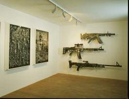 Maskingevär Med Tidslådor - Skulpturens Hus, 2007