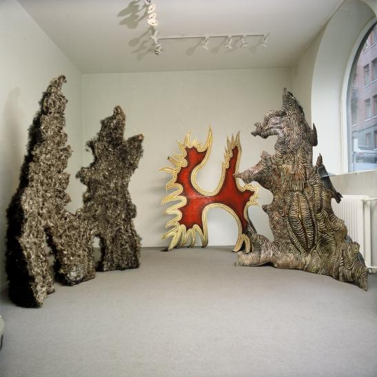 Tre Skulpturer - Riksutställningen Galleri Ojens, 1988